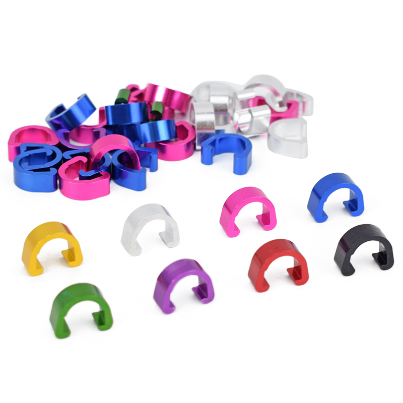 Risk 5pcs Bike Bicycle MTB C-Clips Buckle Hose Brake Gear Cable Housing Guide