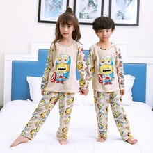 New Listing 2017 Children Clothing Autumn Winter Girls Baby Pajamas Cotton Boy Nightgown Kids Home Cltoh Girl Sleepwear Set(China)