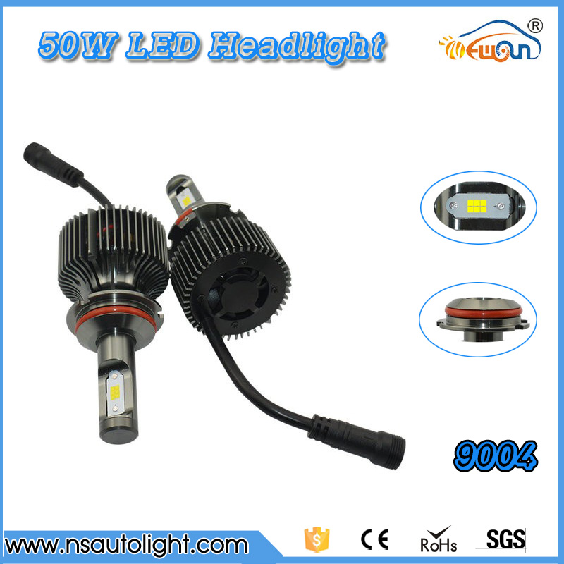 One Pair 9004 LED Headlight High/Low Beam Bulb 6000K LED Head lamp High Power 50W *2 100W 5000LM*2 10000LM front autto Headlight<br><br>Aliexpress