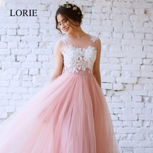 Simple Blush Pink A Line Wedding Dresses 2017 Vestido De Noiva Puffy Tulle Boho Long Bridal Dresses See Through Lace Appliques