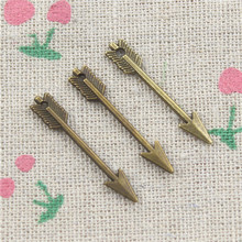 30pcs Arrow Charms Antique Bronze Plated Zinc Alloy Charms Pendants Metal Jewelry Findings Fit DIY 30mm