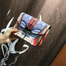 Women Bags Summer Graffiti Ladies Handbags Chain Bag Women Messenger Bags made of leather lady's crossbody bags for women