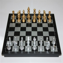 The new UB magnetic chess Folding dish of the gold silver magnetic strengthen magnetic chess(China)