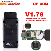 OP-COM for Opel OPCOM V1.78 OBD2 Scanner with PIC18F458 Chip Auto Diagnostic Scanner for Opel OP COM Automotive Scanner CAN BUS(China)