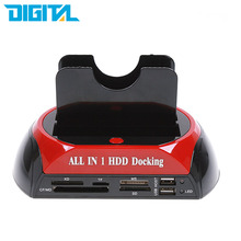 "High Speed SATA IDE HDD Dock Station for 2.5""/3.5"" IDE SATA Hard Disk with 3.5A Power Adaptor/Power Cable/USB Cable US EU Plug"