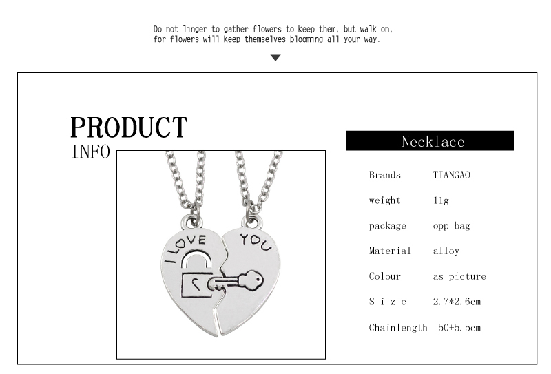 Key-and-Heart Shaped BFF Necklaces For 2