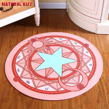 Japanese anime Pink Sakura Magic Circle Children Round Kids Bedroom Carpets Cartoon Child climb pad Computer Chair Puzzle Mats