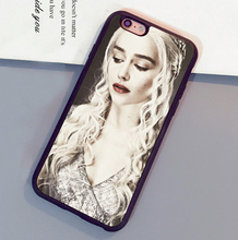 Daenerys Targaryen Game of Throne Printed Phone Cases For iPhone 6 6S Plus 7 7 Plus 5 5S 5C SE 4S Soft Rubber Back Cover Shell