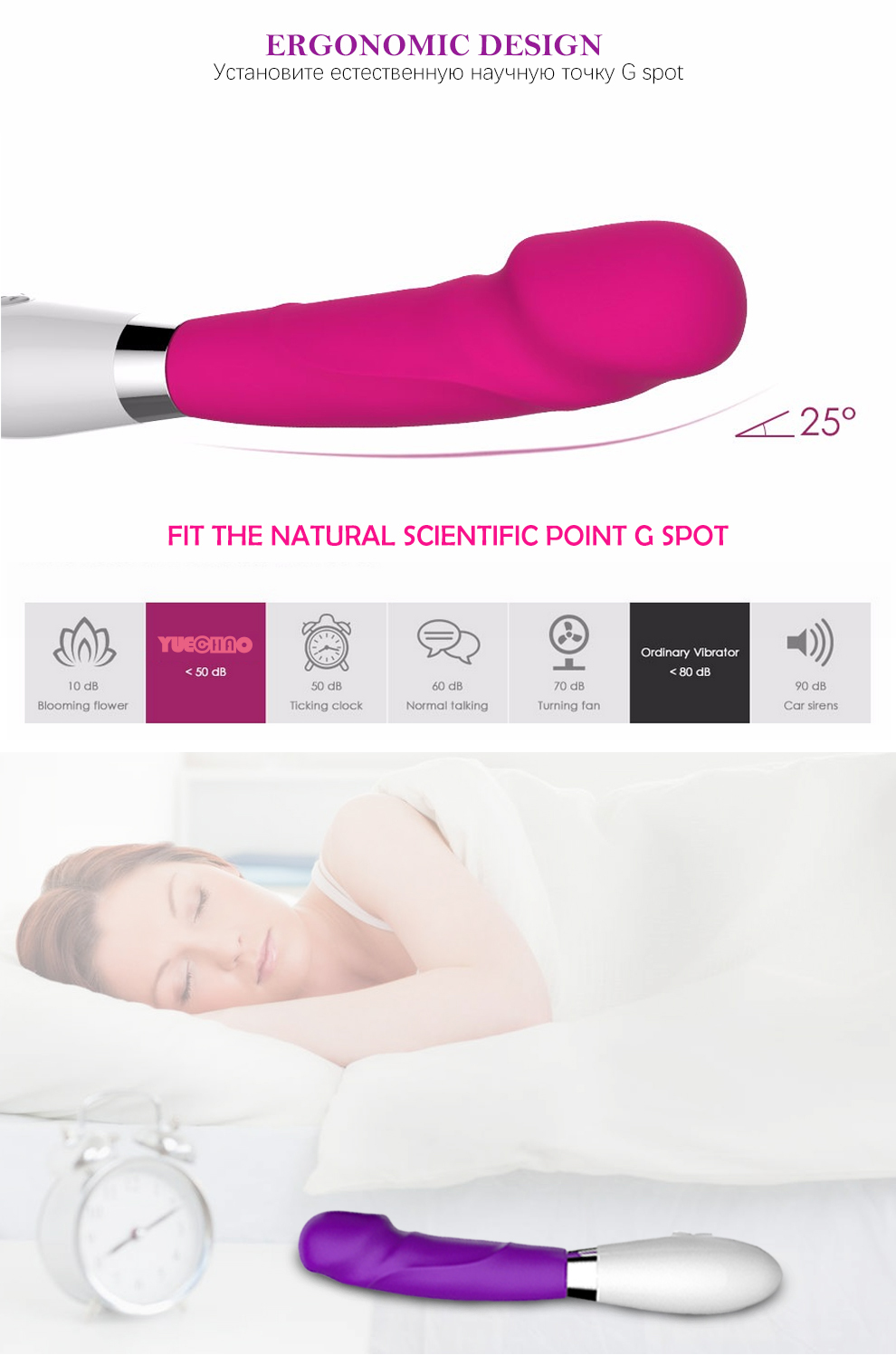 YUECHAO Powerful 12 Speeds Frequency Vibrators For Women G-spot Clitoris Stimulation Vibrating Stick for Couple Sex Toys 6