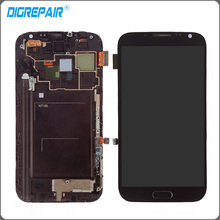 Black LCD Assembly For Samsung Galaxy Note 2 N7100 LCD Display Touch Screen with digitizer Replacement , free shipping
