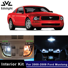 Edislight 7Pcs Canbus White Ice Blue LED Lamp Car Bulbs Interior Package Kit For 2005-2009 Ford Mustang Map Trunk Plate Light(China)