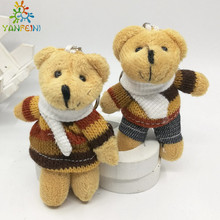 1pair 8cm Hot Selling Item Couple Bears Wedding Bears Wedding Gifts Soft Doll kawaii Toy Brinquedos