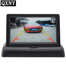 4.3 inch foldable color TFT LCD car/vans /trucks car monitor for rear view camera auto backup reverse parking system(China)