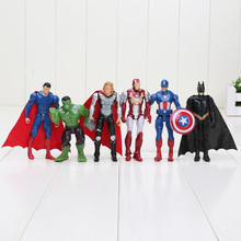6pcs/set 10cm The Avengers figures super hero toy doll hulk Captain America thor Iron man Free Shipping