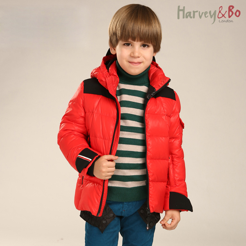 Kids winter outdoor outerwear coats waterproof windproof boys hooded ski suit children thick jacket quilted<br>