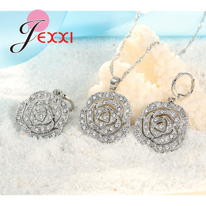 JEXXI-Classic-Rose-White-Women-Jewelry-Sets-Silver-Color-Pendant-Earrings-And-Necklace-Jewelry-Sets-High (1)