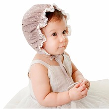 Infant Newborn Baby Kids Lace Flower Beanie Sun Hat Bonnet Hats 2 - 8 Months(China)