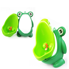 Boy's Portable Potty Urinal Standing Toilet Penico Frog Shape Vertical Wall-Mounted Pee Boy Bathroom Urinals Potty Suction Cups