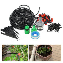 5/10/25M DIY Automatic Micro Drip Irrigation System With Adjustable Dripper Controller Watering Kit For Garden Greenhouse Plant(China)
