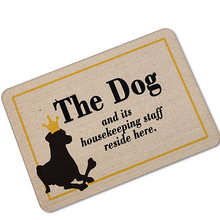 MDCT The Dog Cat Housekeeping Staff Printed Welcome Rubber Floor Mats Doormats Home Decorative Carpet 40x60cm 45x70cm Area Rugs