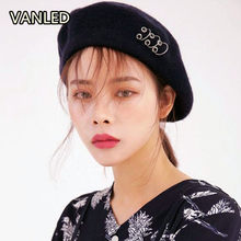 7d08ef63062ae Vintage Style New Painter Hat Female Winter Stylish Sweet Round Circle  Berets 6 Colors(China