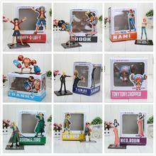 "9pcs/set 5.6"" One piece figure toys After Two Years Later pvc luffy Chopper nico Nami Brook Sanji roronoa zoro the new world"