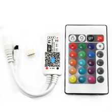 LED WIFI Mini Controller DC12V With 24 IR Key Remote Controller For RGB/RGBW LED Strip Magic Home Tool (C17)