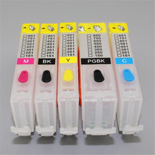 5 color 5PCS PGI-150 CLI-151 refillable ink cartridge for Canon Pixma IP7210 MG5410 MX721 MX921 MG5510 IX6810 with arc chips PGI(China)