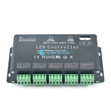 1pcs 12CH RGB DMX 512 Decoder led controller, LED RGB Constant Decoder& Driver for LED Strip Module Lamp 12Channel 5A  DC5V-24V