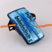 For Suzuki SV 650 2003 2004 2005 2006 2007 2008 Integrated LED Rear Tail Light Turn Signal Blue