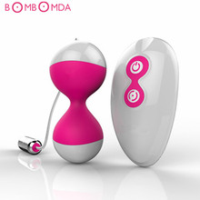 Buy Smart Ball Vibrator Wireless Remote Control Kegel Ben Wa Ball Vagina Tighten Exercise Vibrator Vaginal Ball Sex Toys Women