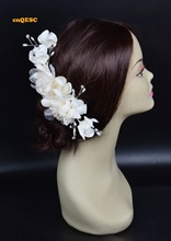 Ivory Bridal fascinator wedding fascinator headpiece with Beads,rhinestone &pearls Wedding and Bridal Accessories.