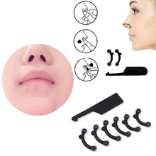 9 piece/ Set Nose Up Lifting Shaping Clip Clipper Nose Shaper 3D Correction Beauty Nose Up Stealth Lifting Shaper Massager(China)