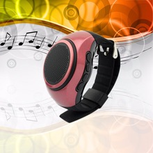 FM Radio Watch Wristband Music Bracelet Selfie Portable Bluetooth Speaker Watch  with Bluetooth call,TF mp3 player B20