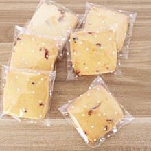 100Pcs/lot 3 Size For Choose, Translucent Dots Plastic Cookie Packaging Bags Cupcake Wrapper Self Adhesive Bags