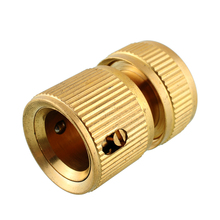 Nrand New Hot Useful Copper Metal Threaded Water Pipe Connector Tube Tap Snap Adaptor Fitting Outdoor