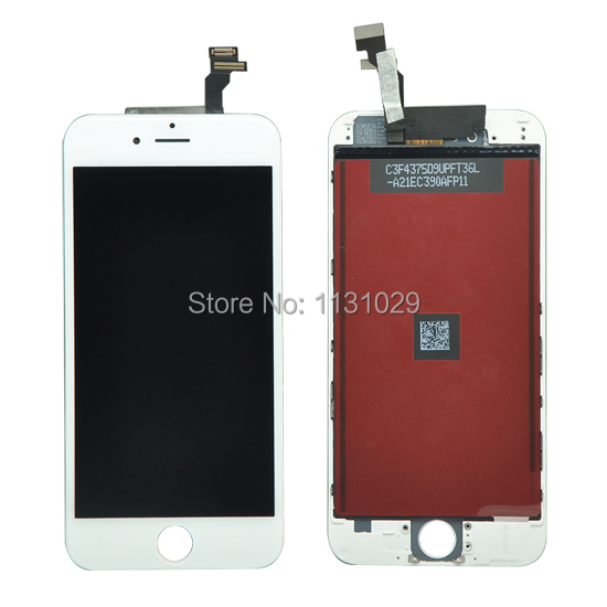 100% Test White Color 4.7 LCD For iPhone 6 6G LCD Display With Touch Screen Digitizer Assembly Free Shipping+track code<br><br>Aliexpress