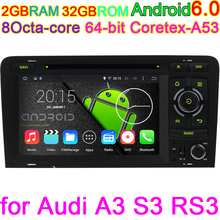 Octa-Core Android 6.0 Vehicle PC DVD Player For AUDI A3 2003 2004 2005 206 2007 2008 2009 2010 2011 With BT Radio GPS Stereo