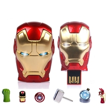 Buy 64GB 128GB Usb Flash Drive 256GB Avengers Captain America Pen Drive Iron Man Pendrive Usb 512GB Stick Flash Memory Card Gift 2.0 for $6.35 in AliExpress store