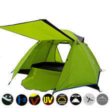 2-3 People Outdoor Folding Tents For Hiking Travel Picnic Beach Tenda Ultralight Portable Double Layer Tente Barracas De Camping