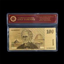 Colored Australia Old Money 100 Dollar Gold Banknote With Certificate Holder Newest Design