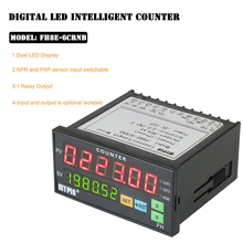 MYPIN Intelligent Preset 6 Digital Counter Multi-functional Length Batch Meter 24V DC Length Counter Meter Relay Output PNP NPN