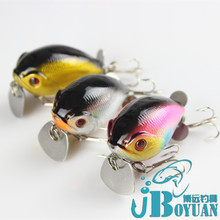 Iron tongue chubby 5.2cm14g propeller with small surface noise rock fat lures diving bait
