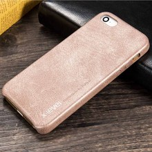 X-LEVEL Vintage Series Faux Leather Hard Rear Case For iPhone 5 5S SE - Black