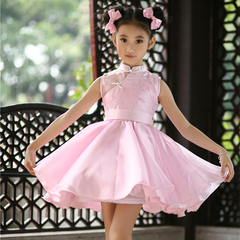 2017 Pink Girls Birthday Party Tutu Fancy Dresses Kids Formal Vestidos For Girls Of 4 To 14 Years Old Kids Clothing SKD001476<br>