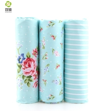 100% Print Flower Cotton Fabric Needlework Textile Sewing Fabrics For Home Decoration Cloth Bedding Sheet Tablecloth Doll A2-3-3(Hong Kong)