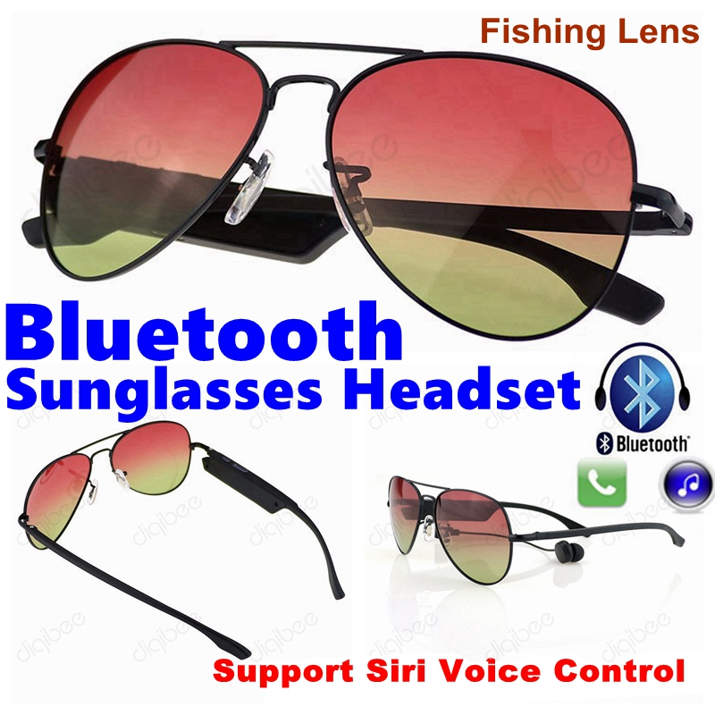 Sport Fishing K3A Polarized UV400 Smart Sunglasses Bluetooth Stereo Wireless Headphone with Mic Voice Control for iPhone Samsung<br>