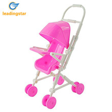 LeadingStar Beautiful Pink Baby Stroller Infant Carriage Gifts for Baby Stroller Trolley Nursery Furniture for Barbie Christm