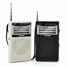 2016 newest TECSUN R218 AM FM TV Band Radio Receiver pocket portable Tecsun radio R-218 reliable Built-In Speaker Free Shipping(China)