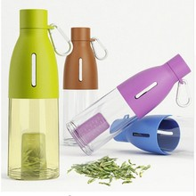 490ml Water Bottle with Tea Infuser Portable Bud Shaped Filter Tea Tumbler Home Office Water Glass Direct Drinking bottle